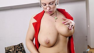 Dirty of age Luba Love enjoys fingering her dripping wet snatch