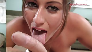Do You Think This Is The Biggest Facial Cock Sucker Rilynn Rae Has Ever Taken?