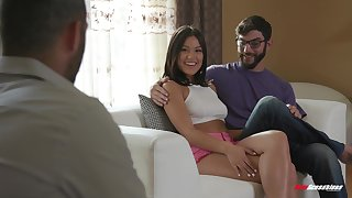 Intelligent moments of cuckold porn be beneficial to a tight amateur Asian teen