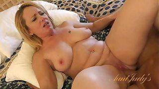 AuntJudys - Busty 46yr-old Brandie Sucks Cock & Gets Fucked