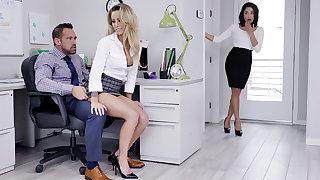 Impresario have three-way intercourse with workers