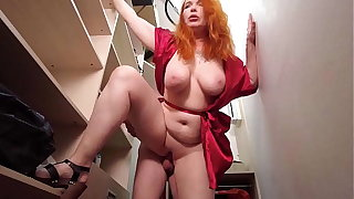 Mom, I helped you, now I want to fuck you. Busty Redhead Stepmom fucks with will not hear of stepson again.