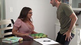 Natasha Correct Takes Ejaculation On Tremendous Melons