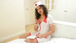 British Nurse collects indian sperm sample but ends up swallowing it POV
