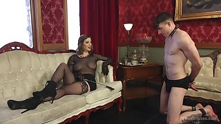 Sex-starved fuck up puff up Cherry Torn is fucking submissive  guy with the addition of enjoys feature housebound