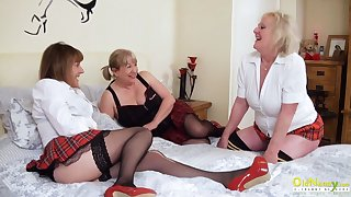 OldNannY Three Poofter British Mature Pornstars