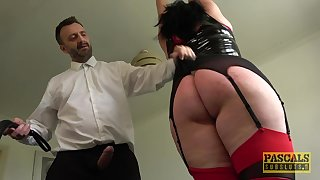 Tall BBW with a obese dimpled butt gets punished and fucked