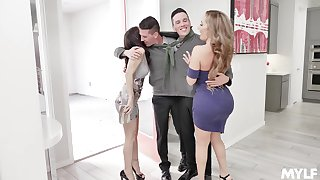 Foursome shagging in the bed connected with Richelle Ryan and Alana Cruise